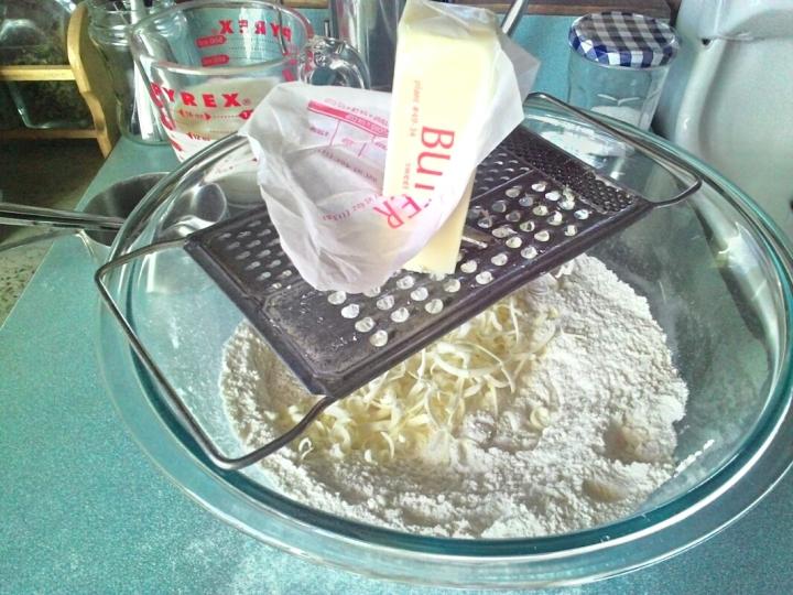 Voila! Grate your frozen butter