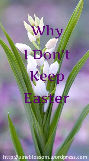 Why I Don't Keep Easter ~ Learn the eye-opening origins of this holiday. https://vineblossom.wordpress.com
