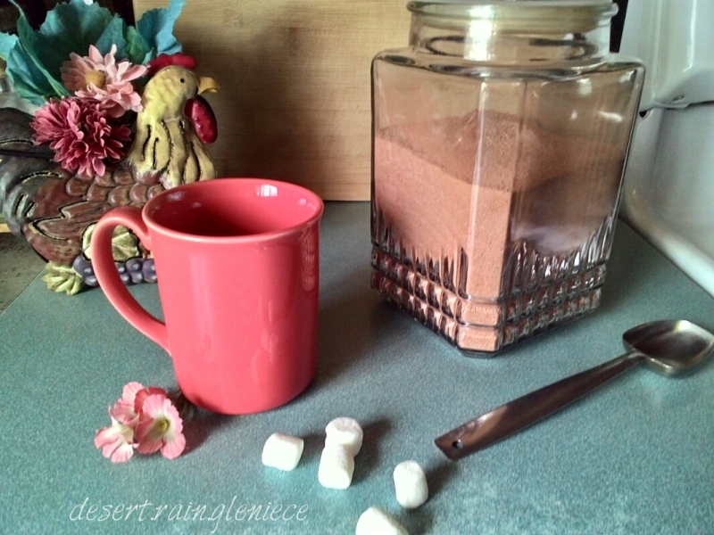 Simple Homemade Hot Cocoa Mix ~ Five simple ingredients, healthy kids, and a happy mom. https://vineblossom.wordpress.com