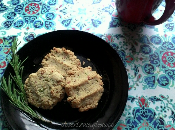 Rosemary Sandies ~ These little gems are a good-for-you alternative to traditional Pecan Sandies with a delightful herbal twist. https://vineblossom.wordpress.com