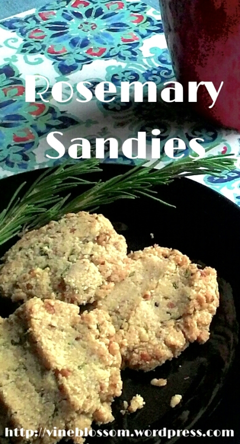 for-you alternative to traditional Pecan Sandies with a delightful herbal twist. https://vineblossom.wordpress.com
